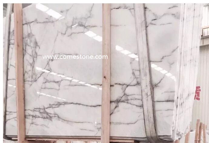 Italy White Ice  Marble Slab