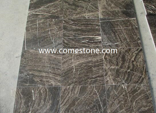Chinese Dark Brown  Marble Tile