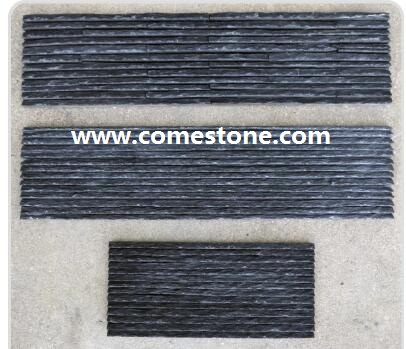 Black quartzite wall panel