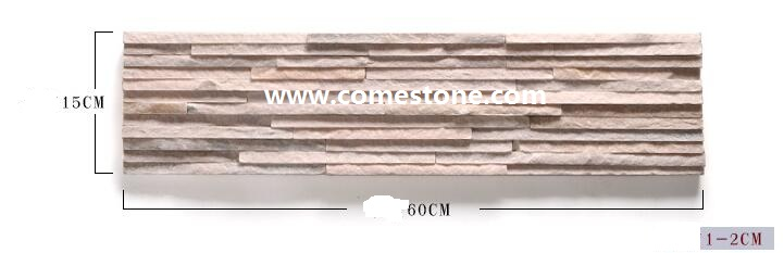 Pink quartzite wall panel