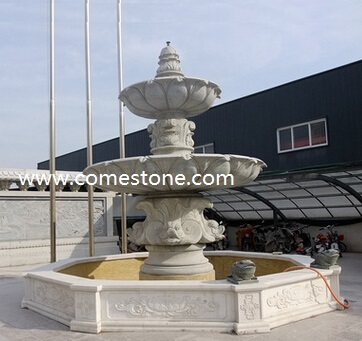 Red Granite Rolling Sphere Fountain