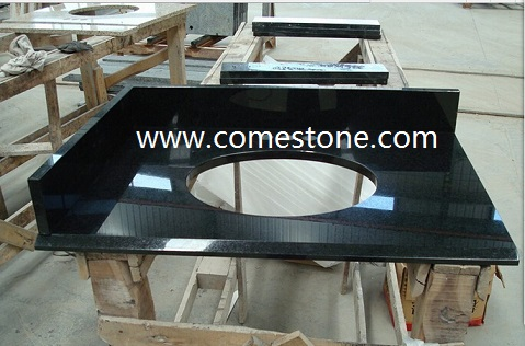 G684 Black Granite Vanity tops
