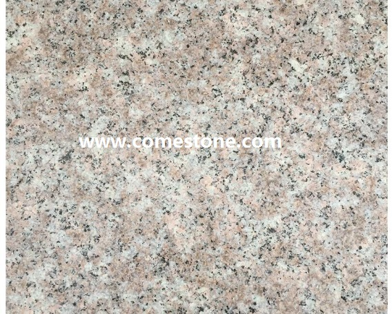 Peach red Bush hammmered Granite tile