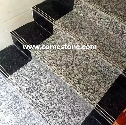 Spray white Granite Step stairs