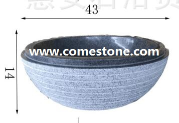 G654 Granite Vessel Sink
