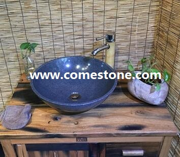 Oval Granite Wash Basin Grey Color