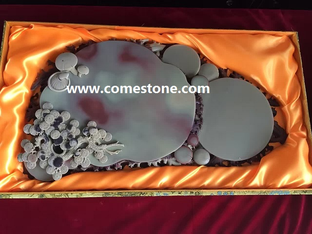 Grey Slate chinese gongfu tea tray
