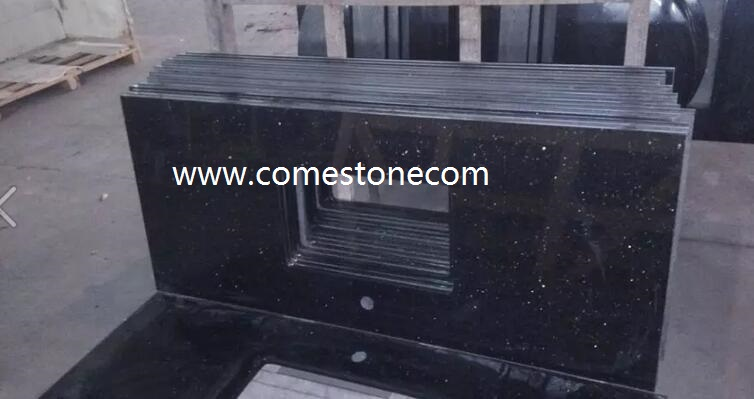 Black Galaxy Granite Vanity Tops