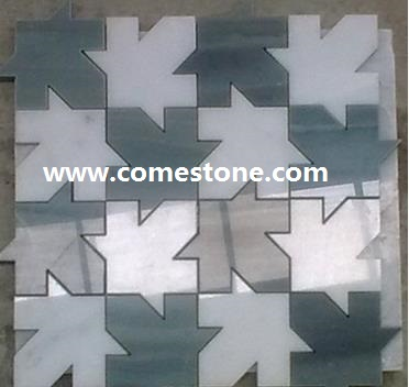 green and white  marble  mosaic pattern