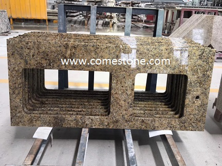 prefab  granite yelllow benchtop