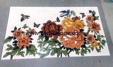 popular sale water jet marble mosaic