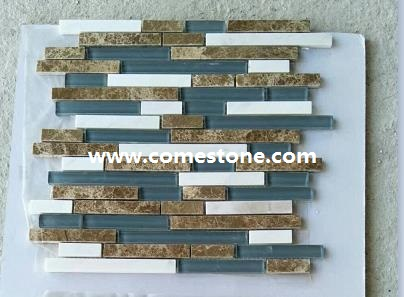 tile wall mosaic black white