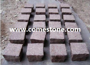 Red Porphyry  Cube Stone