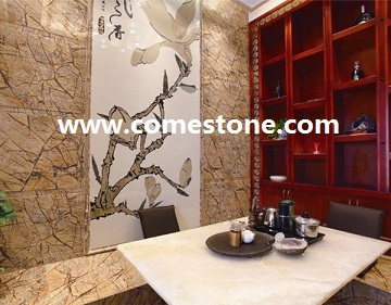 Rain Forest Brown Marble Tile